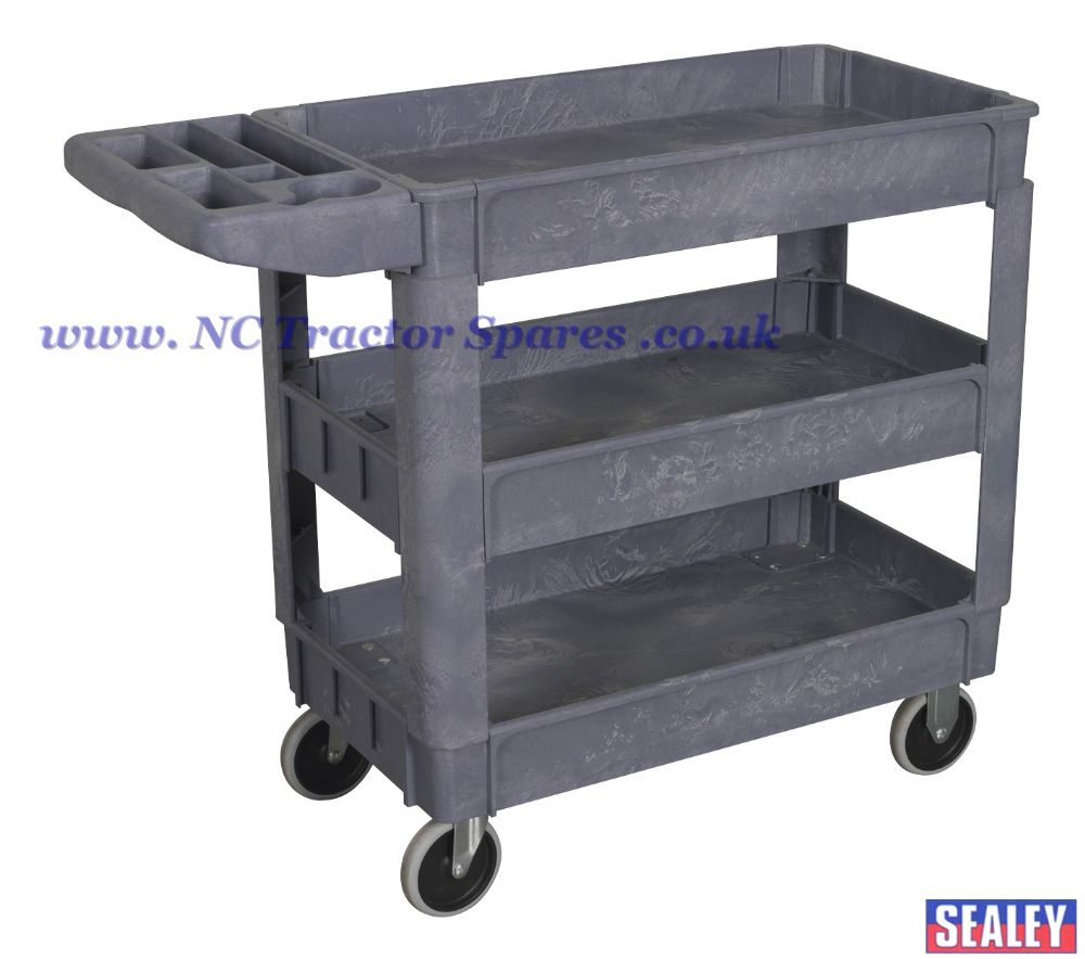 Trolley 3 Level Composite Heavy Duty